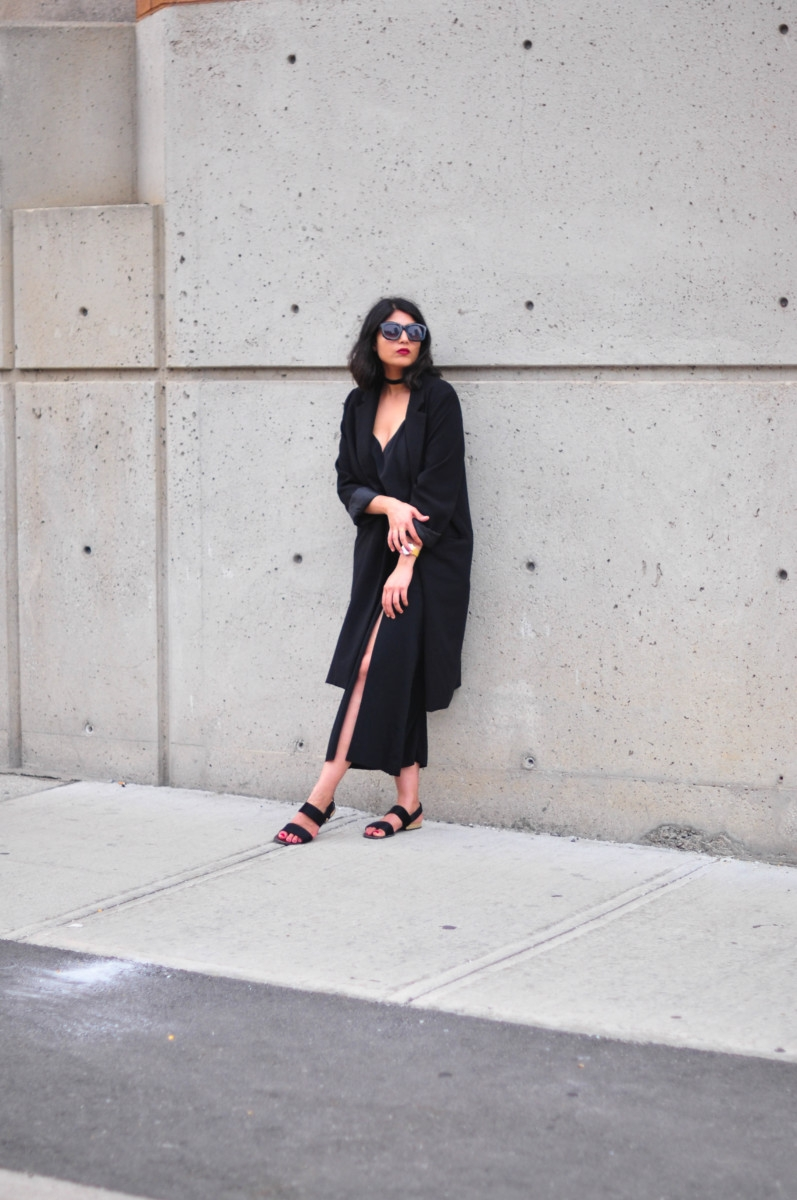 Black on black summer style, COS skirt, 6
